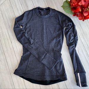 Lululemon heathered gray warm pullover